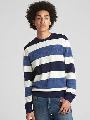 Gap Rugby Stripe Crewneck Pullover Sweater