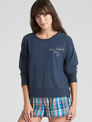 Gap Graphic Pullover Sweatshirt