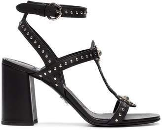 Prada 100 studded leather sandals