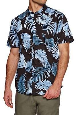 Swell Shirts Palms Woven Short Sleeve Shirt - Indigo Print