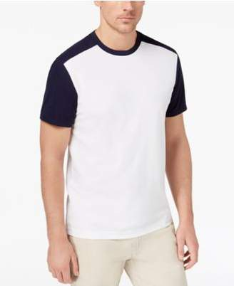 Club Room Men's Colorblocked Performance T-Shirt, Created for Macy's