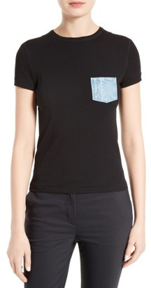 Women's Helmut Lang Pocket Tee $185 thestylecure.com