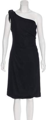 Valentino One Shoulder Knee-Length Dress w/ Tags