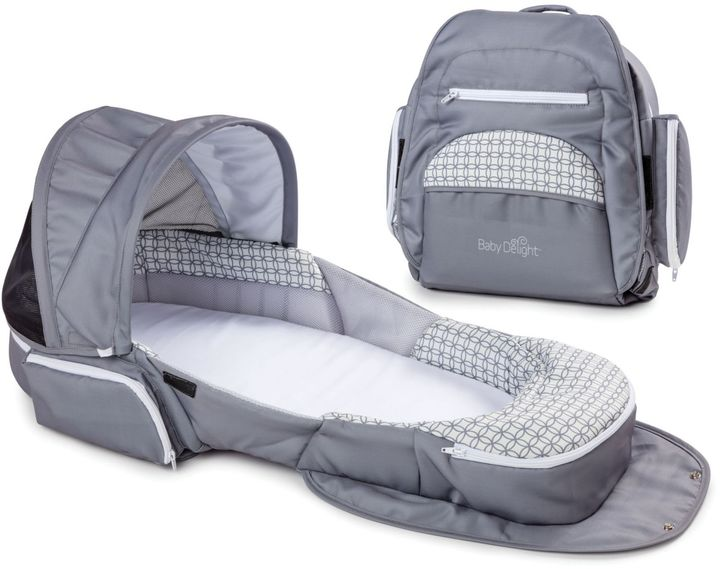 Baby Delight Baby Delight® Snuggle Nest® Traveler Extra-Long Portable Infant Sleeper in Grey Diamond