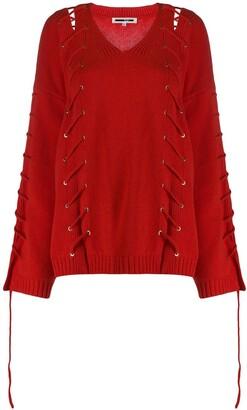 McQ oversized v-neck jumper