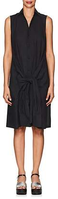 Yohji Yamamoto Regulation Women's Basket-Weave Cotton-Blend Shirtdress