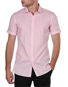 Fergie James Harper Aztec S/S Slim Fit Shirt