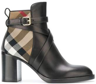 Burberry House Check ankle boots