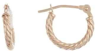 Candela 14K Yellow Gold Corrugated Hoop Earrings