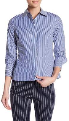 Derek Lam 10 Crosby Striped Lace-Up Back Shirt