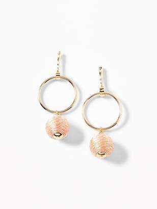 Old Navy Wrapped-Ball Hoop Earrings for Women