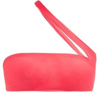 JADE SWIM Halo One Shoulder Bandeau Bikini Top - Womens - Pink