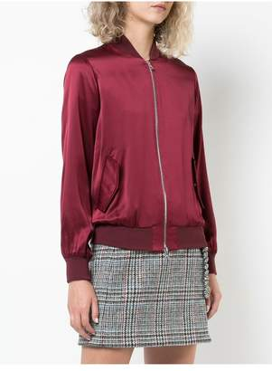 ADAM by Adam Lippes Silk Charmeuse Bomber Jacket