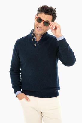 Gents Ledbury Navy Brewer Mock Neck Sweater