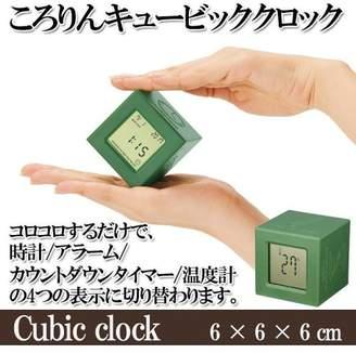 アミュレット 【カラーランダム】ころりんキュービッククロック 時計 アラーム カウントダウンタイマー 温度計 多機能【2664141】