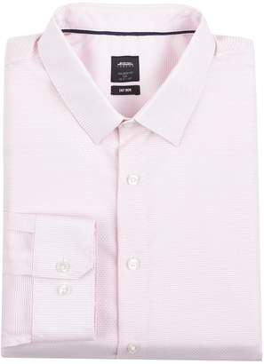 Mens Big & Tall Pink Tailored Fit Textured Shirt