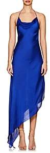Juan Carlos Obando Women's Washed Satin Backless Gown-Royal Blue