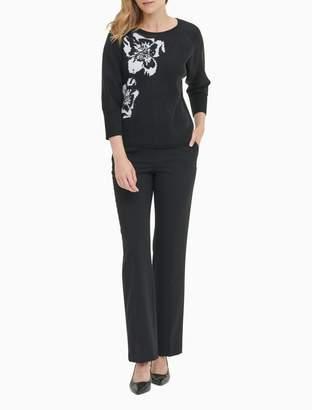 Calvin Klein striped v-neck long sleeve top