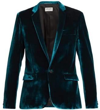 Saint Laurent Velvet Dinner Jacket - Mens - Blue