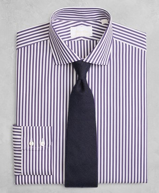 Brooks Brothers Golden Fleece Milano Slim-Fit Dress Shirt, English Collar Stripe