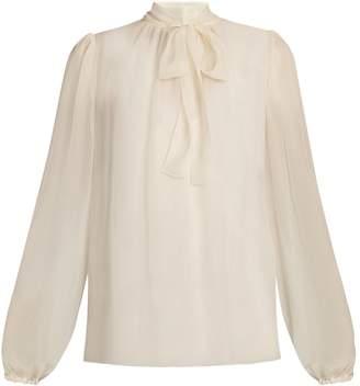 Dolce & Gabbana Tie-neck long-sleeved blouse