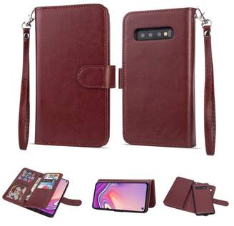 Hlc 2 in 1 Leather Wallet Case with 9 Credit Card Slots and Removable Back Cover for Galaxy S10 Plus