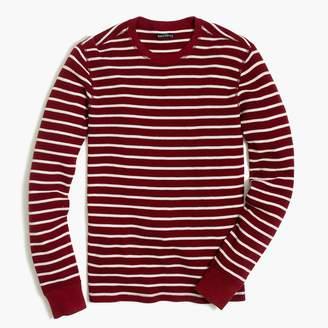 J.Crew Striped thermal crewneck T-shirt