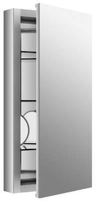 Kohler Verdera 15 x 30 Aluminum Medicine Cabinet with Adjustable Magnifying Mirror and Slow-Close Door