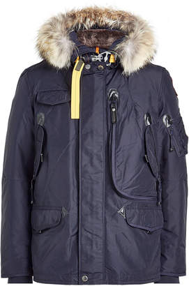 at STYLEBOP.com Parajumpers Down Jacket with Fur-Trimmed Hood and Detachable Lining