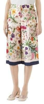 Gucci Flora Silk Twill Pajama Pants