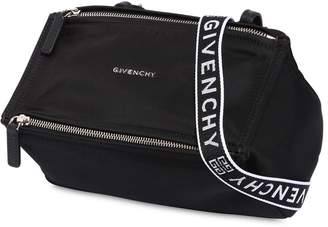 Givenchy Mini Pandora Nylon Bag W/ Logo Strap