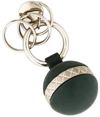 Bottega Veneta Bottega Veneta Leather Intrecciato Keychain