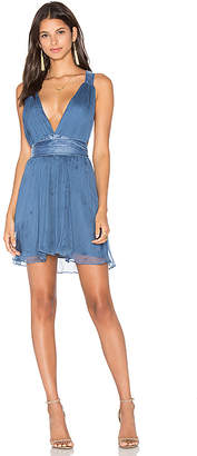 MAJORELLE April Dress in Blue $268 thestylecure.com