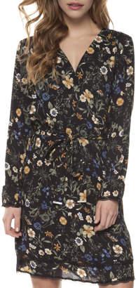Dex Faux Wrap Lace Dress