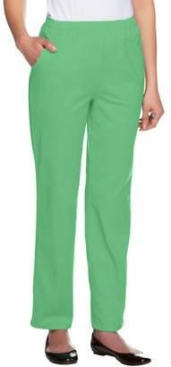 Denim & Co. Original Waist Stretch Regular Pants w/ Side Pockets