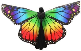 Goodtrade8 Large Butterfly Wings Adult Women Kids Toddler Girls Egypt Belly Dance Soft Shawl Scarves Ladies Costume Dress Accessory