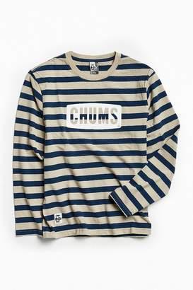 Chums Boat Logo Striped Long Sleeve Tee