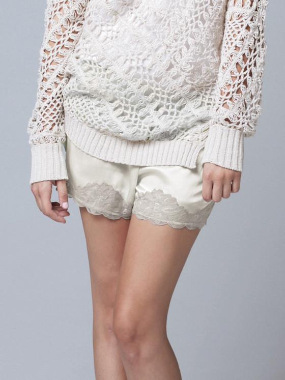 Gold Hawk - Floral Lace Shorts