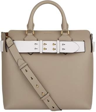 Burberry Medium Leather Belt Tote Bag