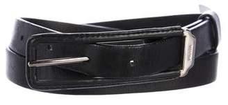 Prada Leather Skinny Belt