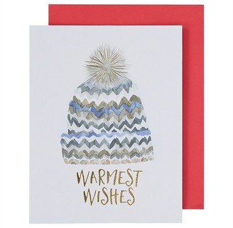 Paper E. Clips Holiday Boxed Cards Chevron Hat