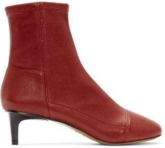 Isabel Marant Red Daevel Sock Boots