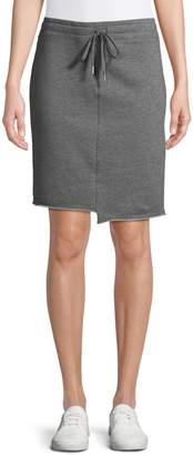 Andrew Marc Asymmetrical Cotton Blend Skirt