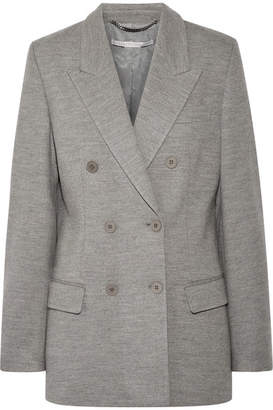 Stella McCartney Double-breasted Wool Blazer - Light gray