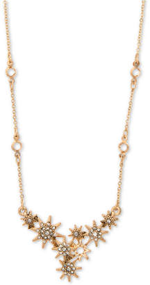 "lonna & lilly Gold-Tone Pave Star Statement Necklace, 16"" + 3"" extender"