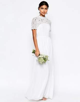ASOS BRIDAL High Neck Embellished Maxi Dress $166 thestylecure.com