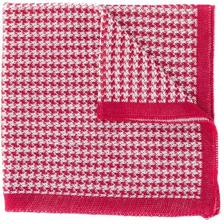 Canali houndstooth knitted scarf