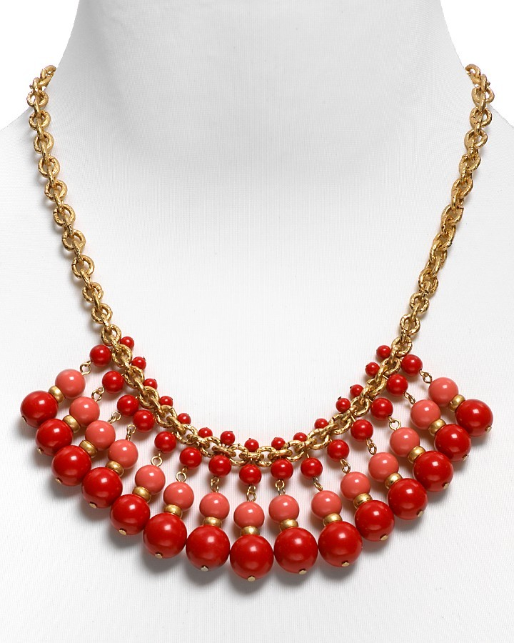 Carolee LUX Coral Bib Necklace, 20
