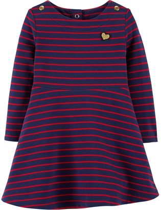 Osh Kosh Oshkosh Bgosh Baby Girl Striped French Terry Dress