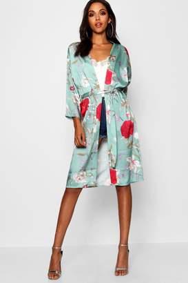 boohoo Natalie Oriental Print Kimono
